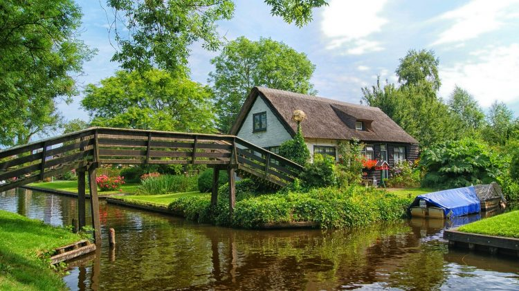 """Giethoorn is also famous """"Venice of the North"""" or """"Venice of the Netherland"""". It is a small town has no roads and cars, but instead - more than hundred bridges over miles of canals."""