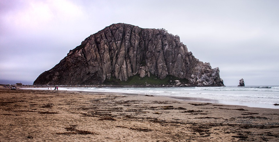Morroc Rock is one of 13 volcanic plugs lie between Morro Bay and Islay Hill in California.