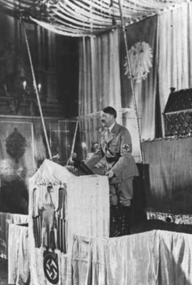 Hitler as charismatic orator.