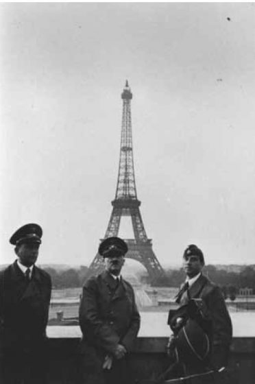 Hitler in Paris after the swift defeat of France in 1940.