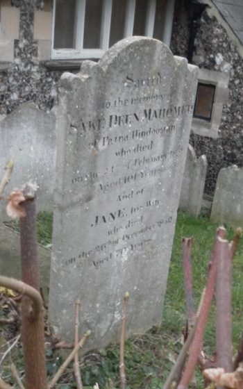 Sake Dean Mahomed died on February 24, 1851, at the age of 92 and was buried in St Nicholas' churchyard in Brighton.