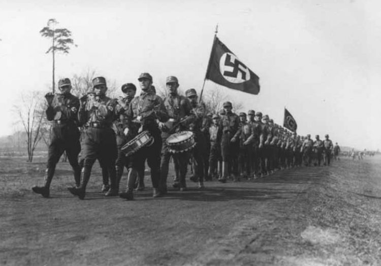 Nazi Storm Troopers on parade.