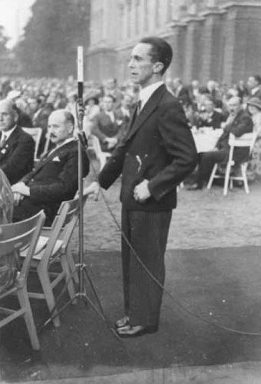 Reich propaganda minister Josef Goebbels.