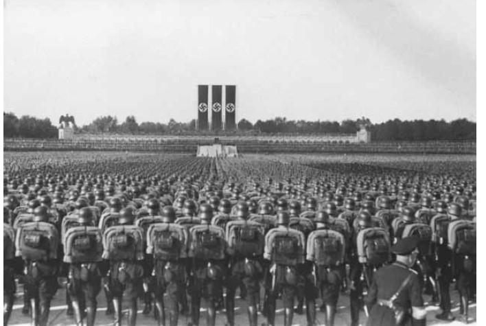 The annual Nuremberg party rally.