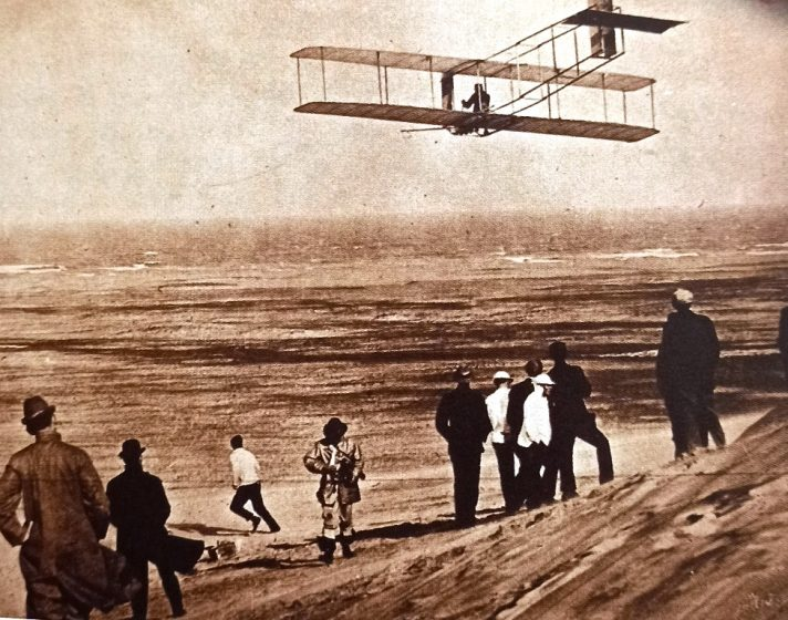 Conquest of the Skies - The Wright brothers set up a workshop at Kill Devil Hills, above the beach at Kitty Hawk in September 1900. They assembled their first glider there.