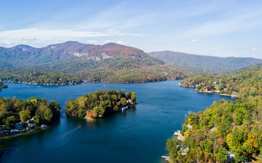 The beautiful Lake Lure covers around 720 acres including a shoreline of approximately 27 miles.